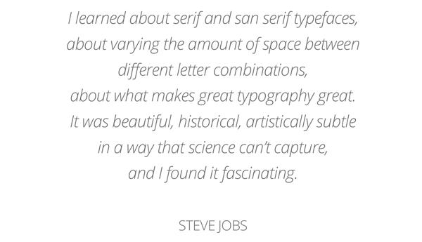 Steve Jobs om typografi