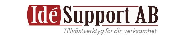 Idésupport logo med payoff